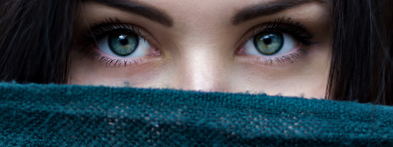 Woman's Eyes Above Scarf, Image for LASIK Co-management